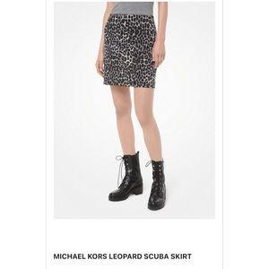 MICHAEL Michael Kor Scuba Skirt Leopard MF97EZYCJF